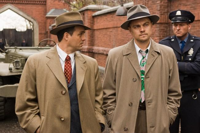 Chuck Aule (Mark Ruffalo, left) and Teddy Daniels (Leonardo DiCaprio, right) are two detectives sent from the mainland to investigate a  mysterious disappearance on an island prison for the criminally insane in the thriller ?Shutter Island.?