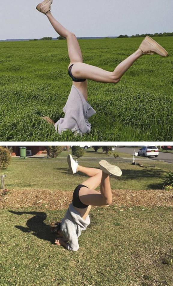 Это очень смешно: женщина воссоздает фотографии знаменитостей [18 Фото]